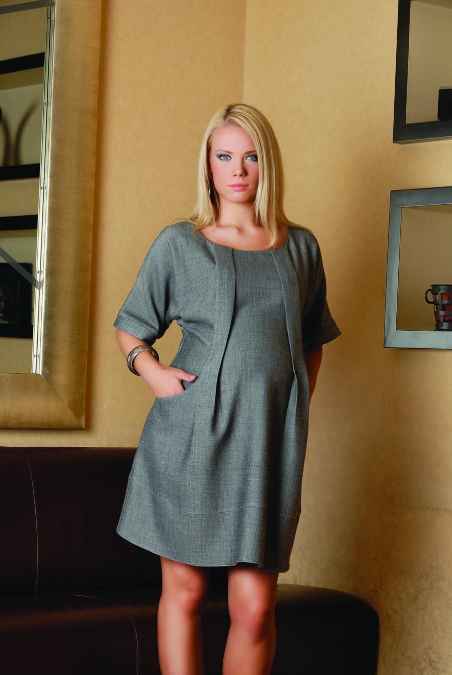 Тёплое платье для беременных 158